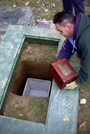 My mother's cremains are buried