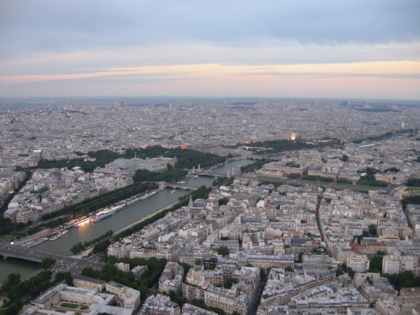 View of Sienne and Paris from Eiffel Tower