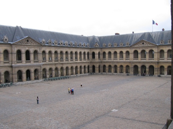 Picture of the courtyard of The Hotel des Invalides