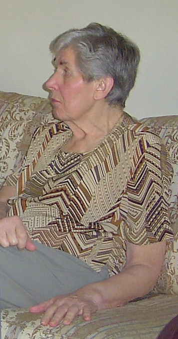 A picture of my mother, taken in Christmas 2004.