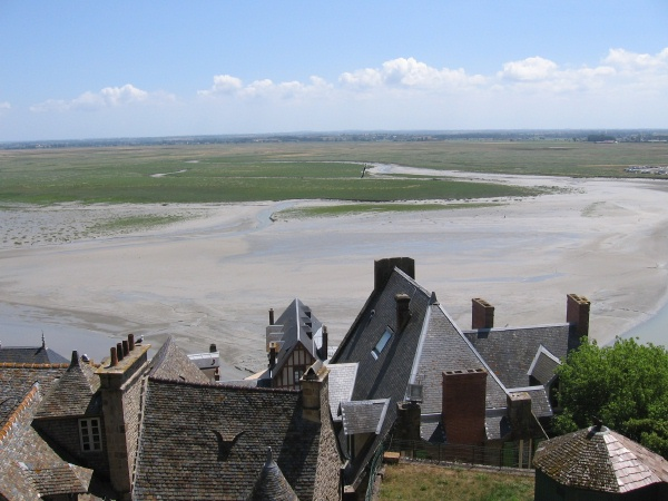 View of France from Mont. St. Michel