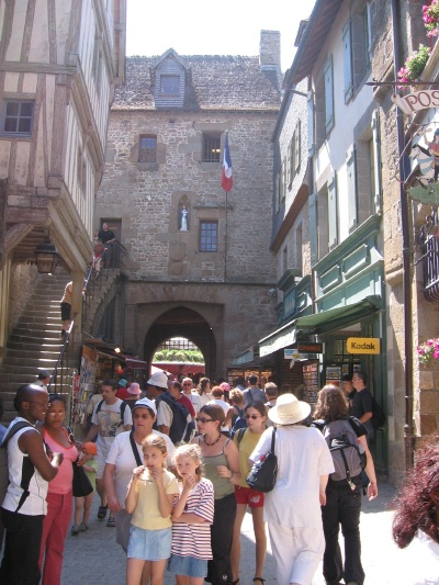 The streets of  Mont. St. Michel