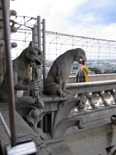 Gargoyles at Notre-Dame Cathedral