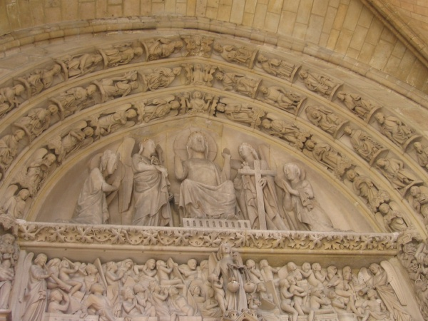 Engraved Statuary at Notre-Dame Cathedral