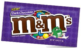 A sinful delight, Dark chocolate M&Ms