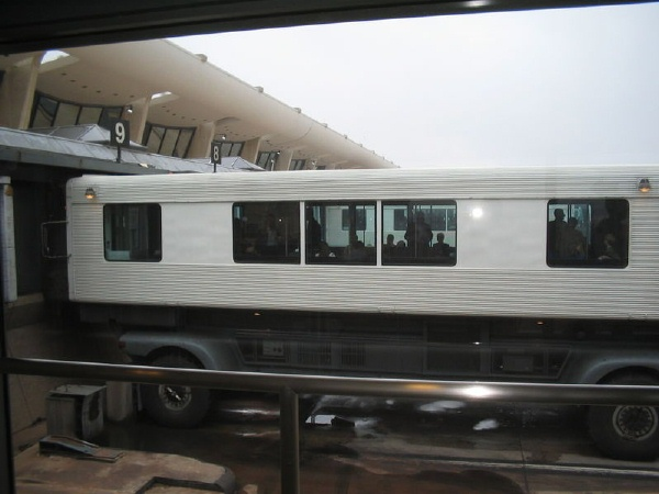 Mobile lounge at Dulles International Airport