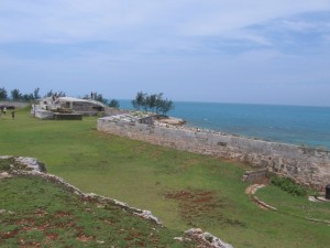 View from the National Maratime Museum in Bermuda