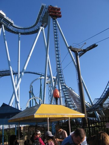 Griffin roller coaster at Busch Gardens Williamsburg