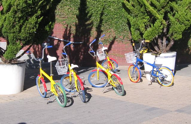 The ubiquitous Google bikes