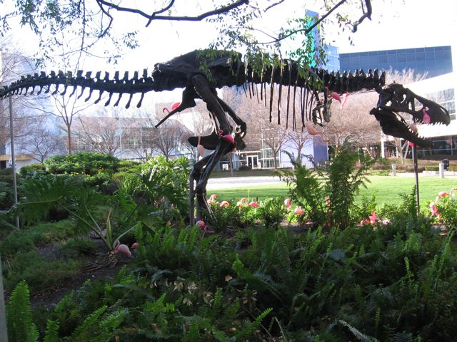 Stan the Dinosaur near the center of the Googleplex