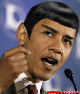 Obama as Mr. Spock