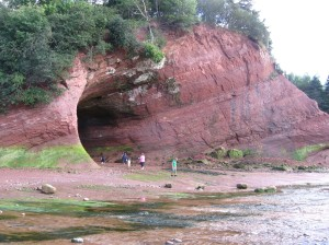 Caves on Fundy Bay (low tide), St. Martins, New Brunswick