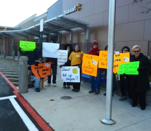 Black Friday protest against Walmart's labor practices at Sterling, Virginia store