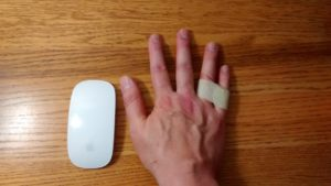 My large hand with Magic Mouse