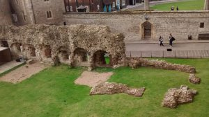 Roman and Norman ruins at Tower of London