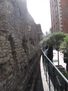 Roman wall in London