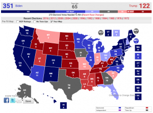 My 2020 electoral college prediction map